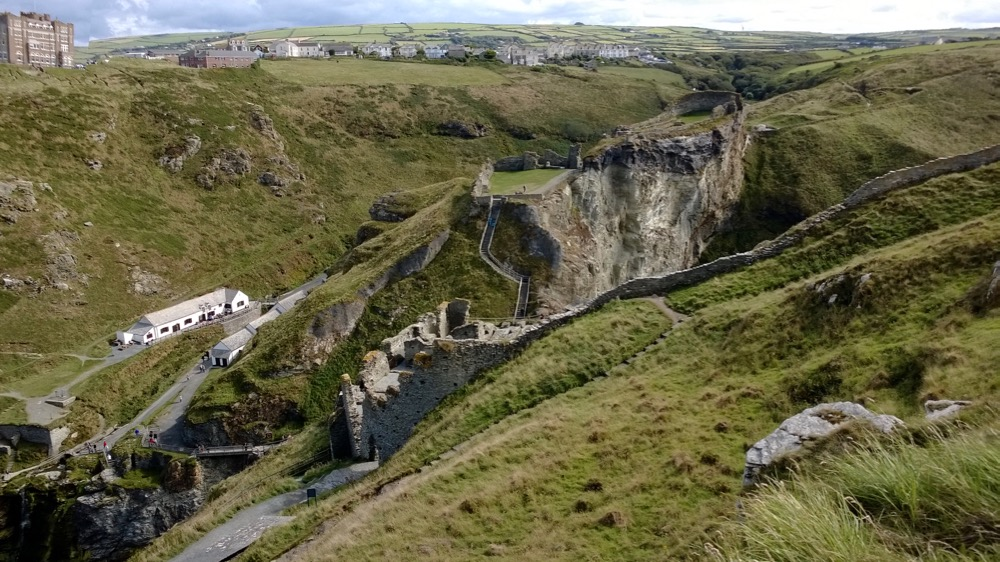 Panorama of Tintagel, and the spectacular surrounding coastline