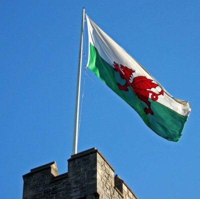 Welsh Flag on Castle