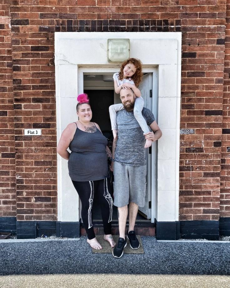 Exeter Lockdown doorstep photography, Naomi, guy, willow, wonford