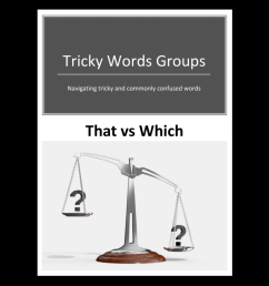 Tricky Word Groups #7: That vs Which (Downloadable) - Exploring Expression [ 1080 x 1080 Pixel ]