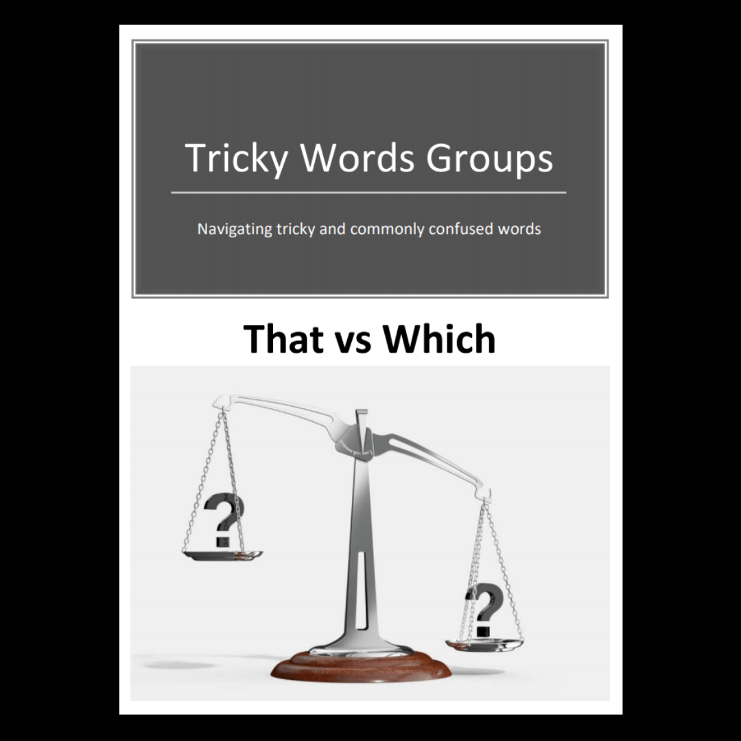 hight resolution of Tricky Word Groups #7: That vs Which (Downloadable) - Exploring Expression