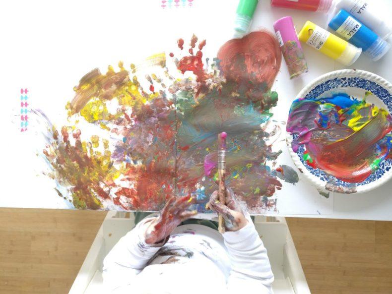 schilderen met een peuter