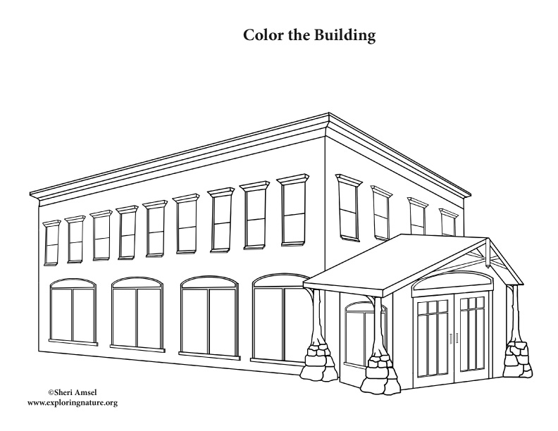 Building (Office) Coloring Page