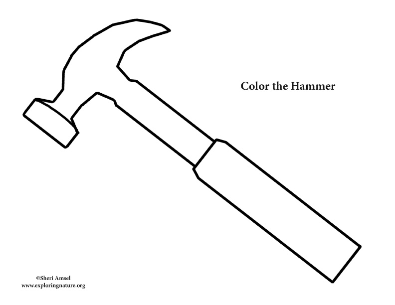 Hammer Coloring Page