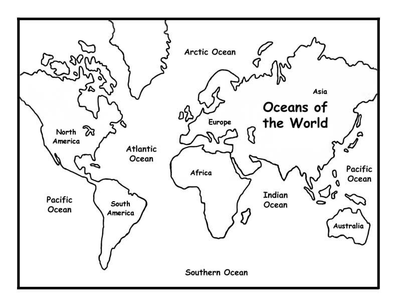 Oceans of the World Coloring Page