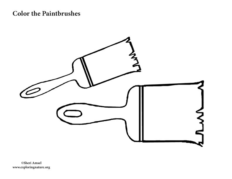 Paintbrush Coloring Page