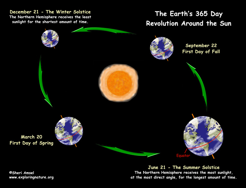 Migrating Birds Diagrams Changing Seasons The Tilted Earth
