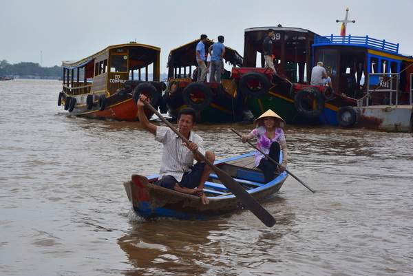 Mekong Boat River Crossing Vietnam