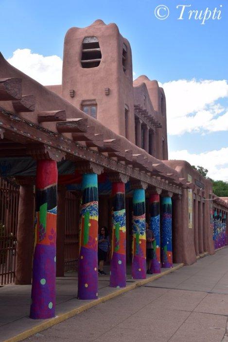 Colorful pillars in Santa Fe