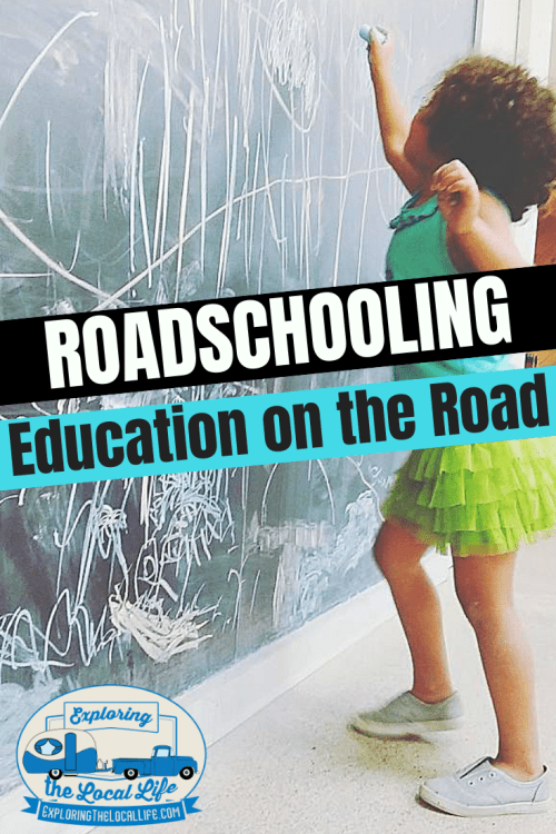 Do you want to go full time RVing with school-aged kids? Find out what Roadschooling is, how to do it successfully, and how to stay legal. #rvingwithkids #fulltimerving #rvlife