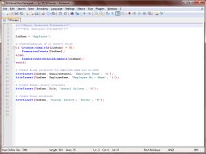 TI Process - Notepad++