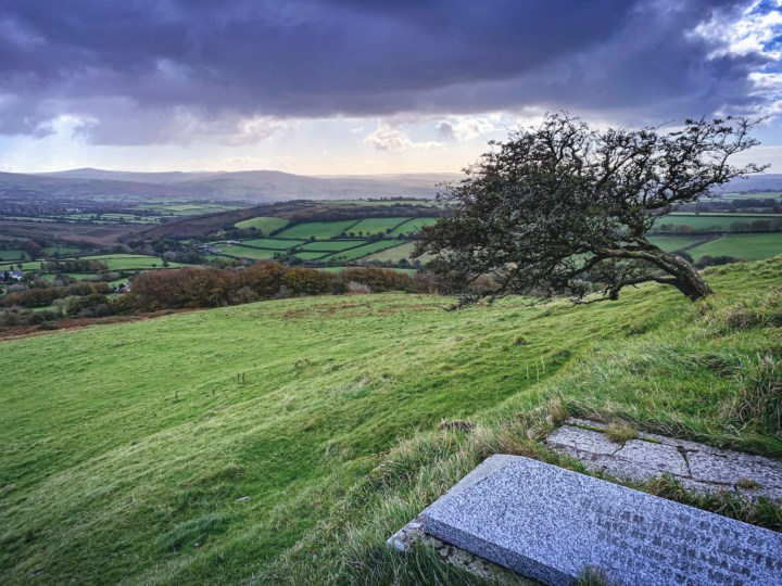 """Graves dug into """"the living stone"""" on top of Brent Tor"""