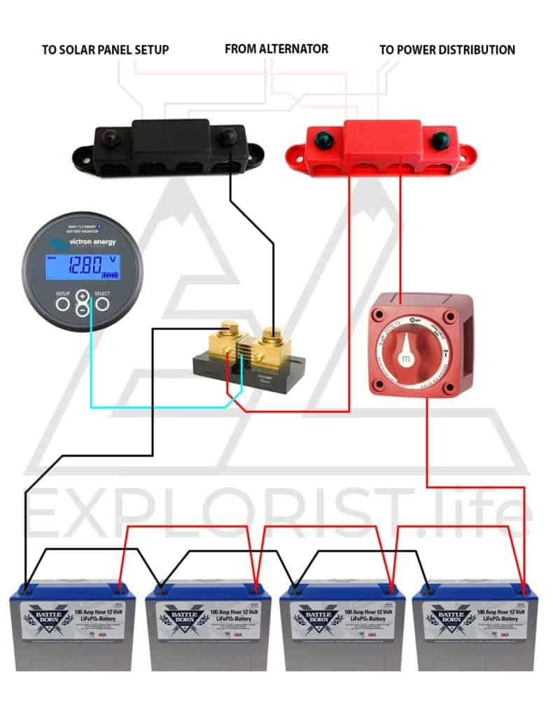 hight resolution of  the wiring diagram above features a lithium battery where the parts list below includes an