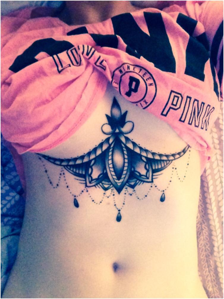 Cute Tattoo Ideas Under Breast