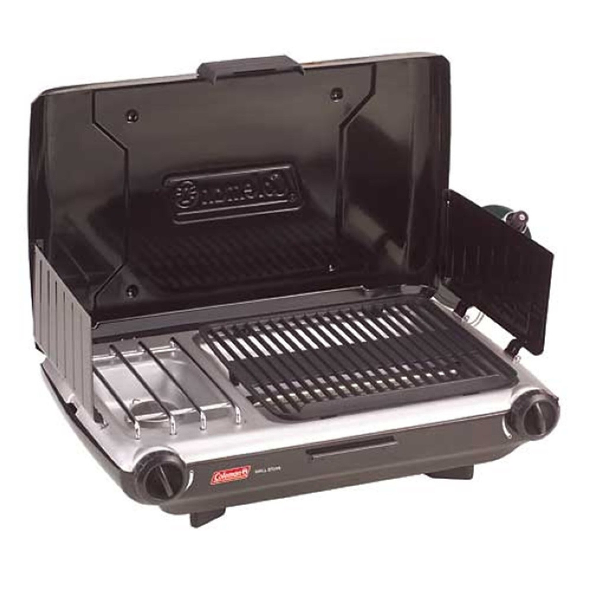 coleman gas grill 2 burner stove combo