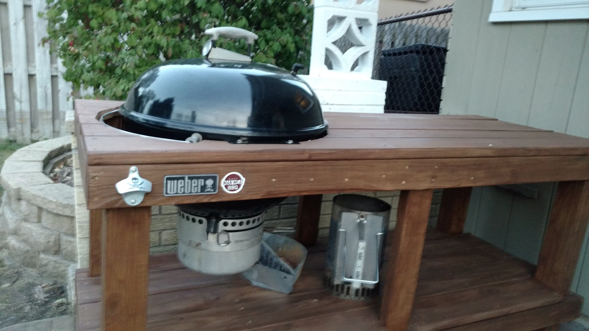 weber grill table ideas charcoal plans