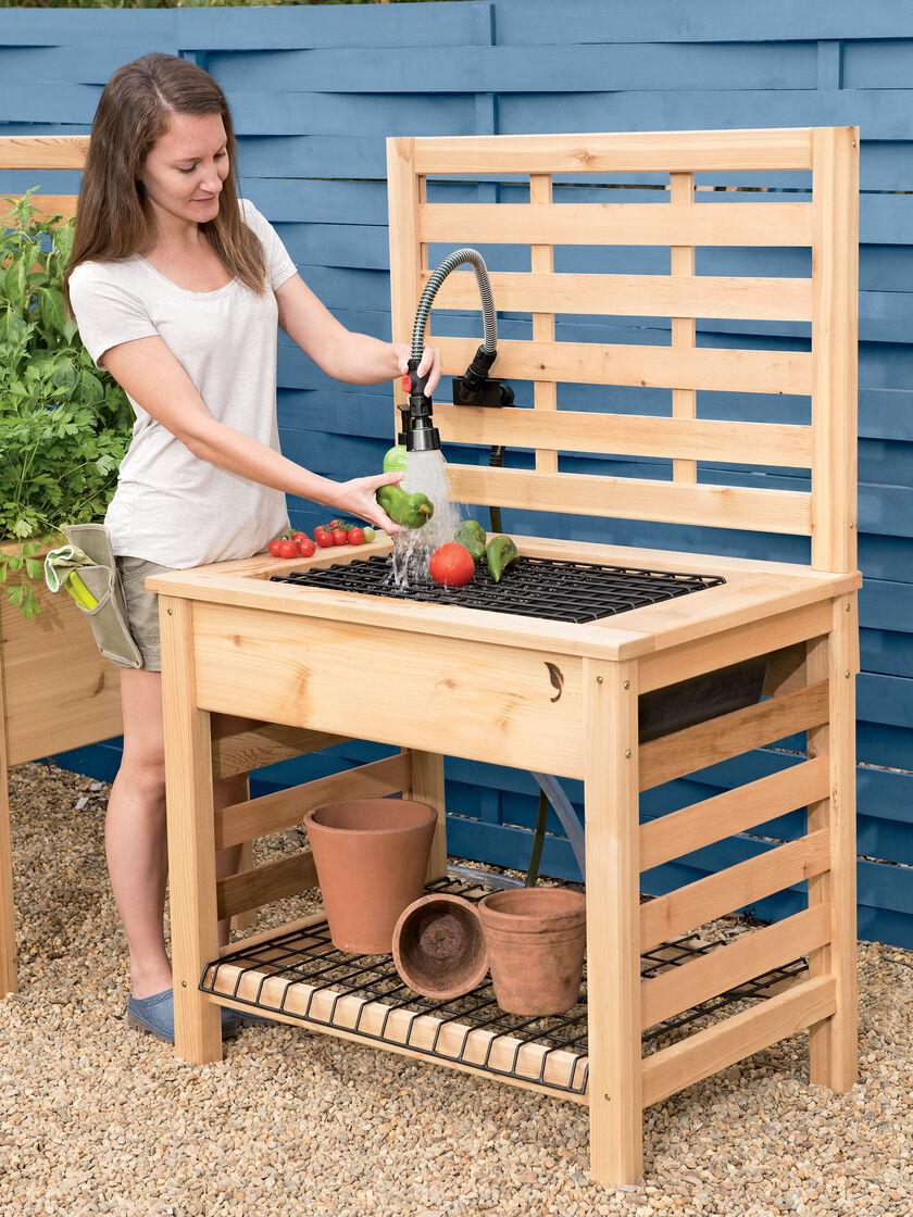Outdoor Garden Sink Table With Hose Reel Holder All Purpose Buy Station Uk Ideas Solar Lantern Gear Workstation All Purpose Expocafeperu Com