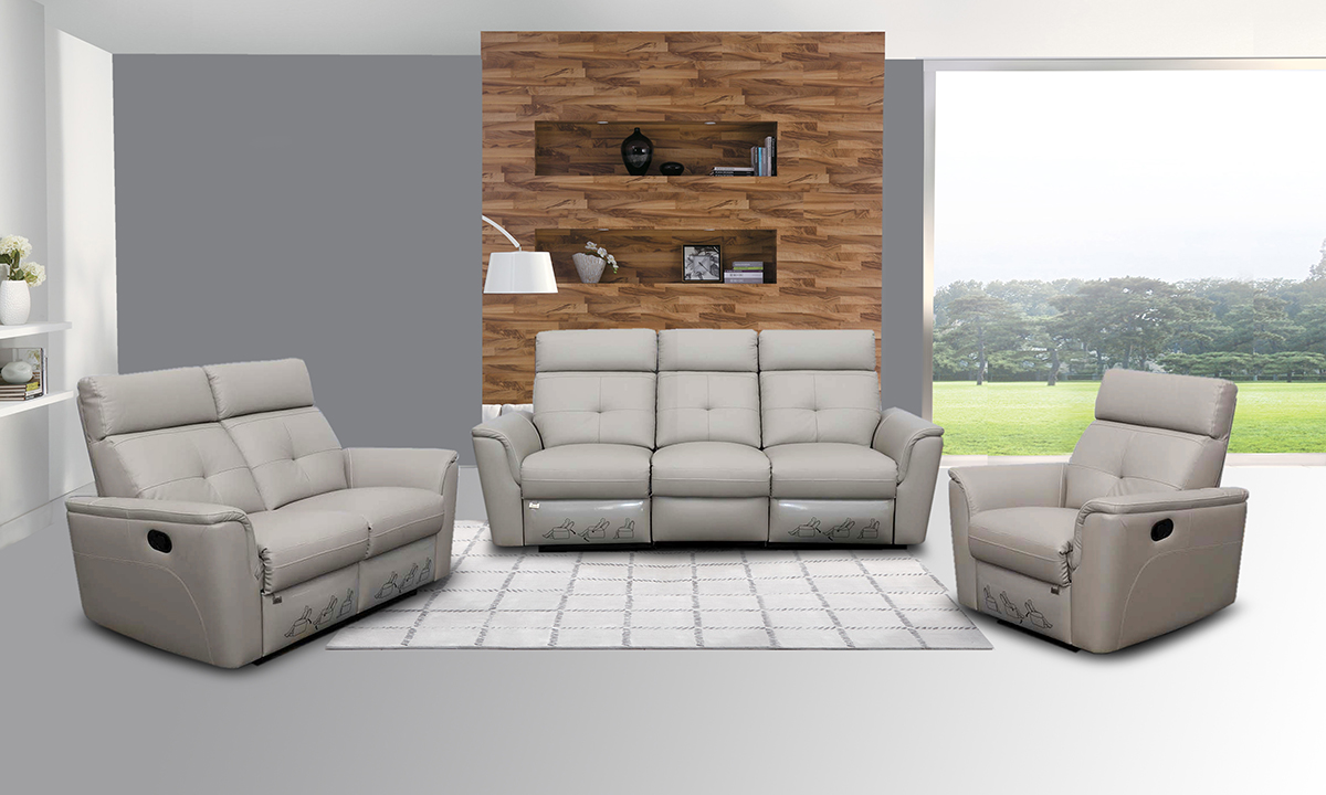 grey living room furniture set wood 8501 recliner light sofas loveseats and chairs