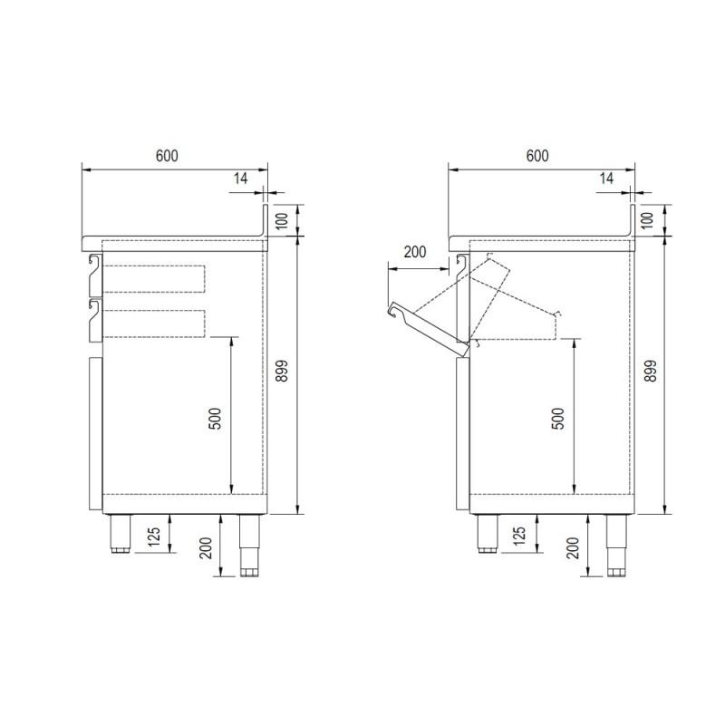 Mostrador para cafetera compacto DOCMC50C