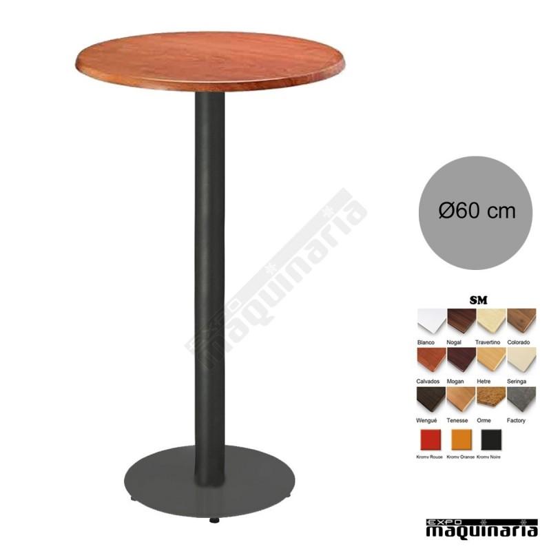 Mesa alta bar redonda 3R028SM tablero redondo SM