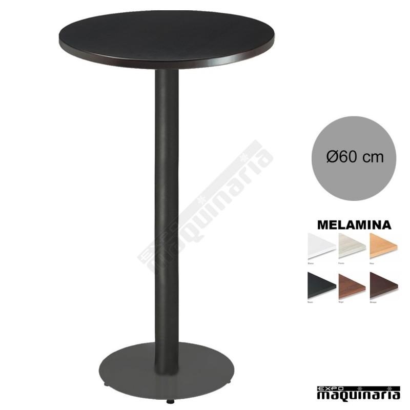 Mesa redonda 3R028ME alta bar tablero melamina
