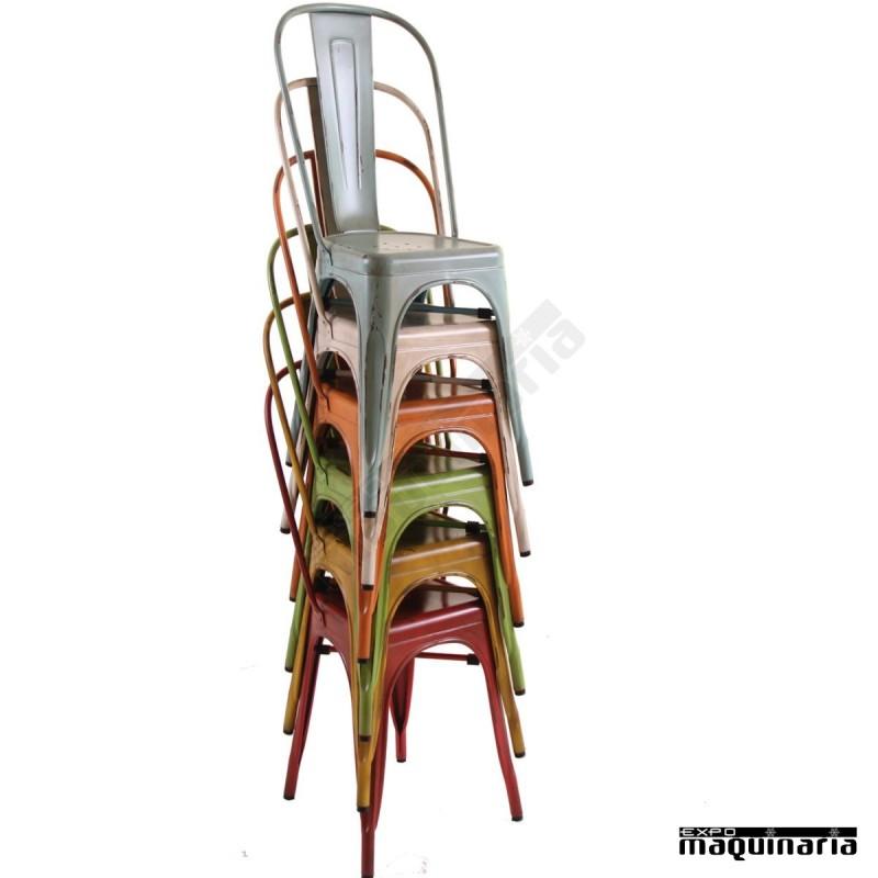 Silla vintage de acero DL801A sillas de bar sillas de terraza