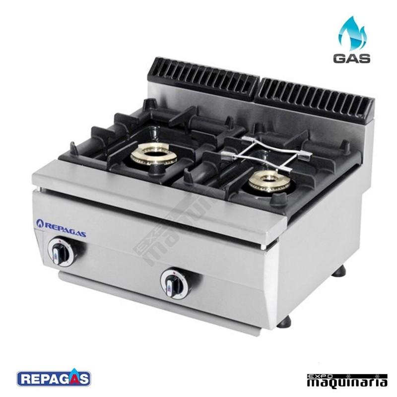 Cocina industrial C520PM de dos fuegos a gas para la