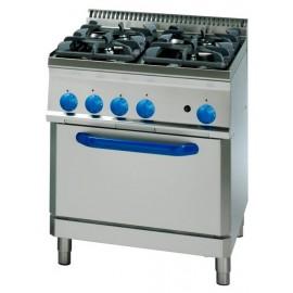 Cocina Industrial electrica vitroceramica con horno PFC70E7