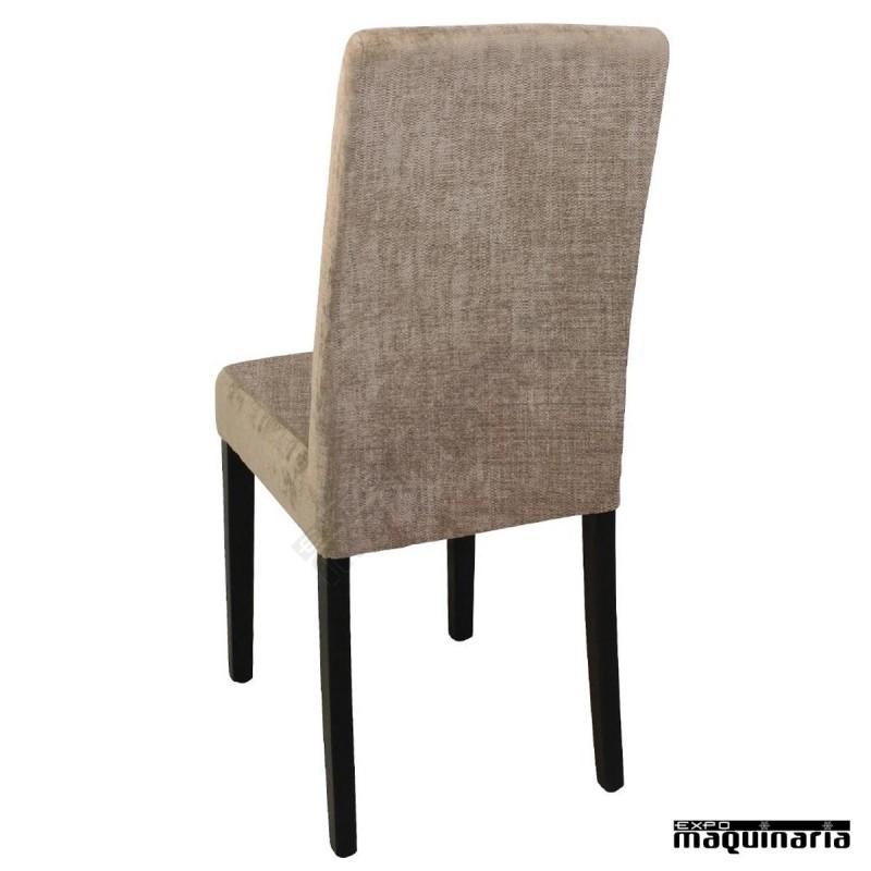 Silla tapizada madera de abedul NIGK999 sillas salon
