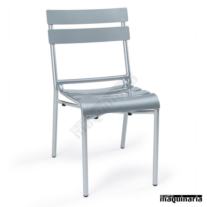 Sillas exterior en aluminio IM4424 sillas apilables con color a elegir