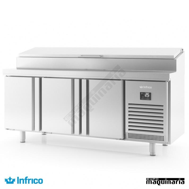 Mesa refrigerada ensaladas 196x70 cm BMGN1960EN
