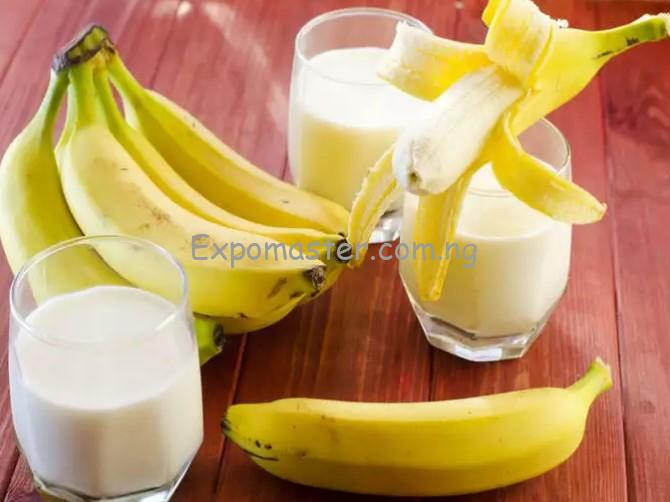 banana and milk mixture