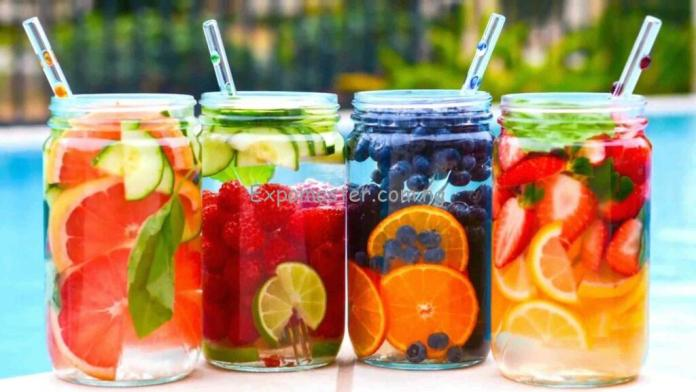 fruity water helps to lose weight