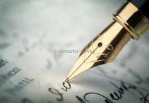 the pen writing