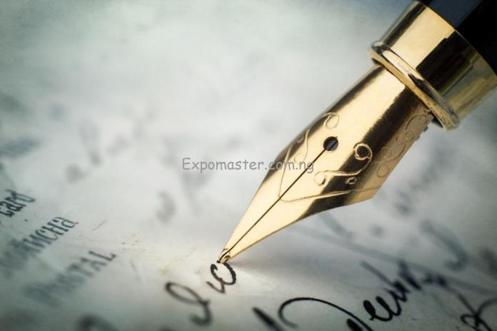 the pen writing
