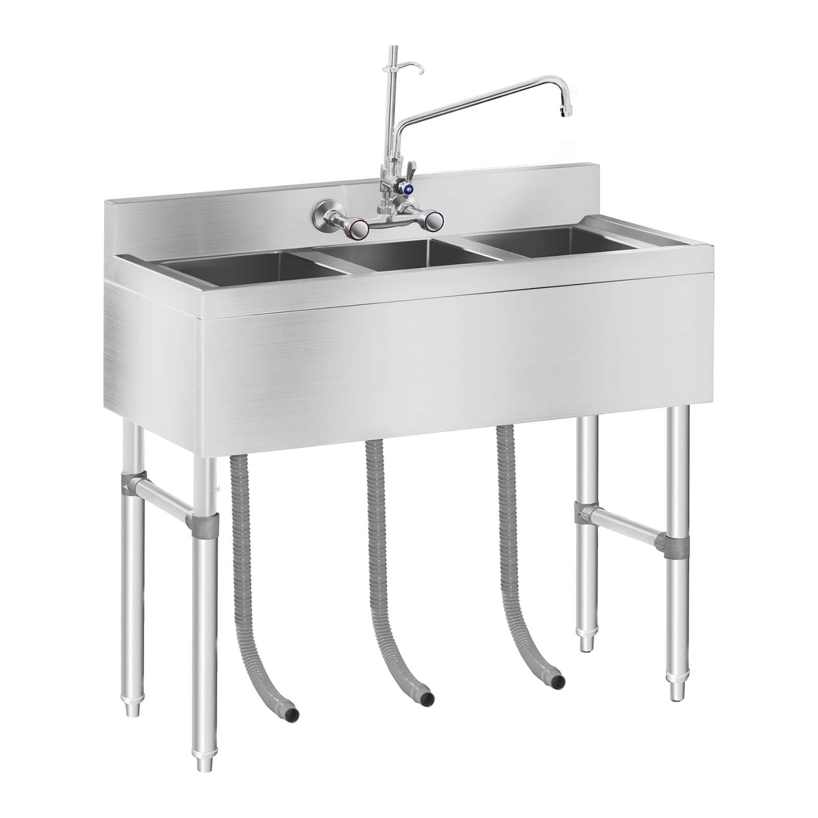 https www expondo co uk royal catering commercial sink 3 compartment 100 x 50 x 97 cm 10010410