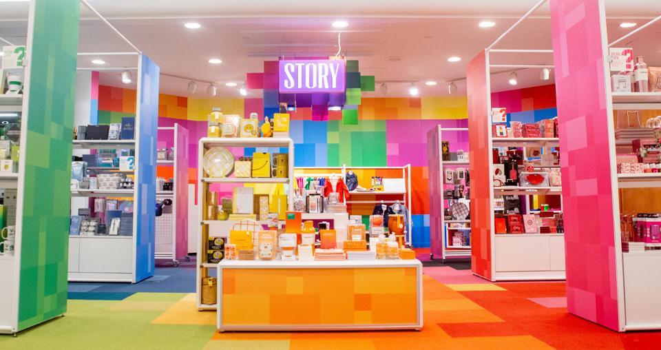 cores em ambientes comerciais
