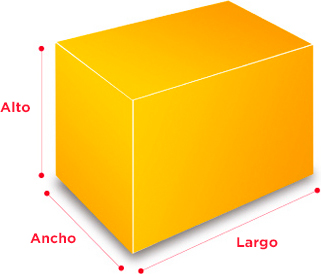 pesos y dimensiones embalaje