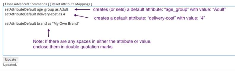 setting default attributes