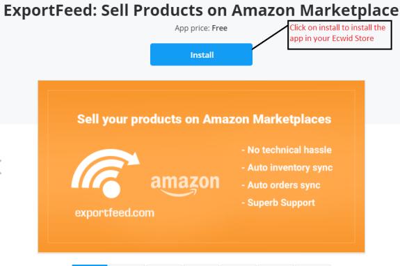 ExportFeed Amazon App for Ecwid