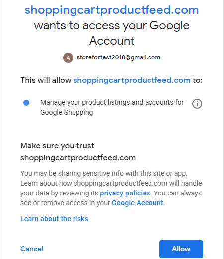 google login for automatic connection