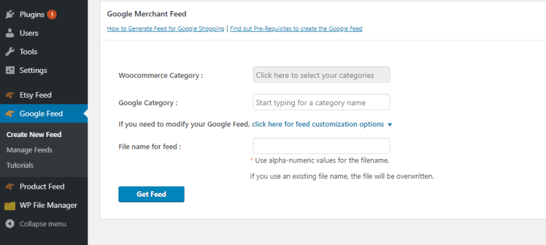 Google feed plugin dashbarod