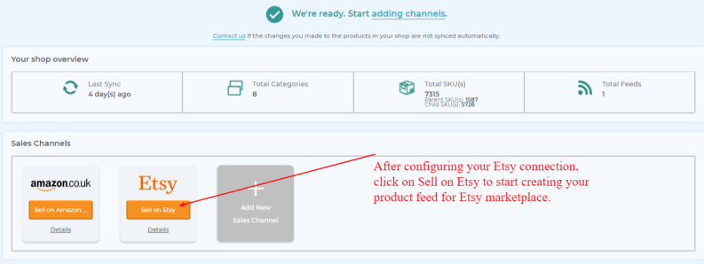 sell on Etsy dashboard