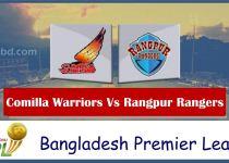 Comilla Warriors Vs Rangpur Rangers