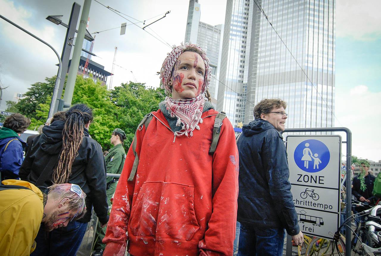 Fotoreportage, Occupy, Frankfurt 2012