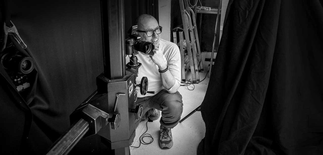 Marc fotografiert im Studio - Information