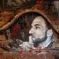 Tariq Ramadan painted portrait of Hassan Al-Banna