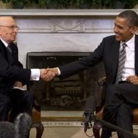 President Barack Obama and Italian President Giorgio Napolitano