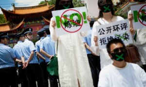 protest against plans for a petrochemical plant in Kunming