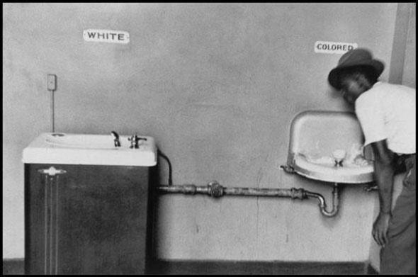 An example of racial segregation